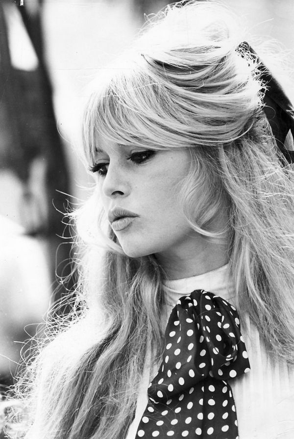 The 60's inspired hair, the beautiful Brigette Bardot