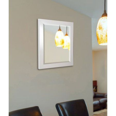 Rayne Glossy White Wall Mirror