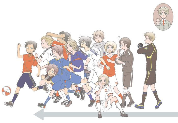 FIFA hetalia I'll make jokes while I watch it and nobody understands... meh.