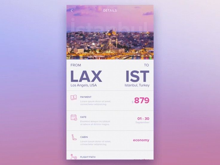 Flight App Campaign Screen by Alper Tornaci airline  airplane  android  animation  app  flight  material  ois  ui  ux