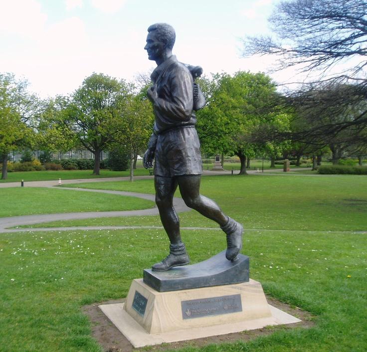 Statue of Brian Clough, Albert Park, Middlesbrough.
