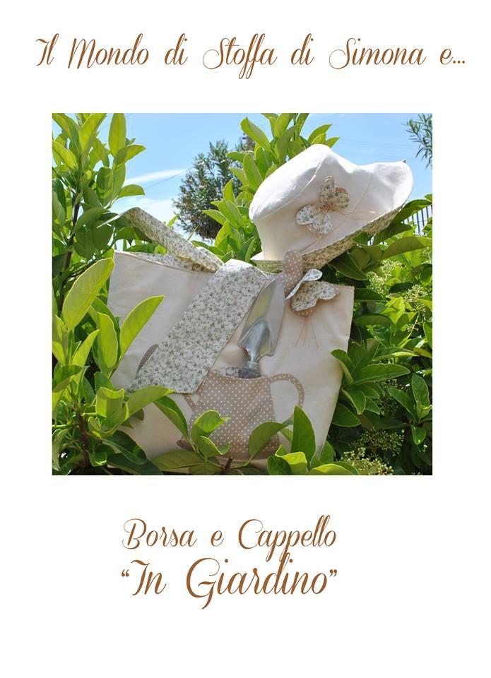 """Borsa e Cappello """"In Giardino"""""""