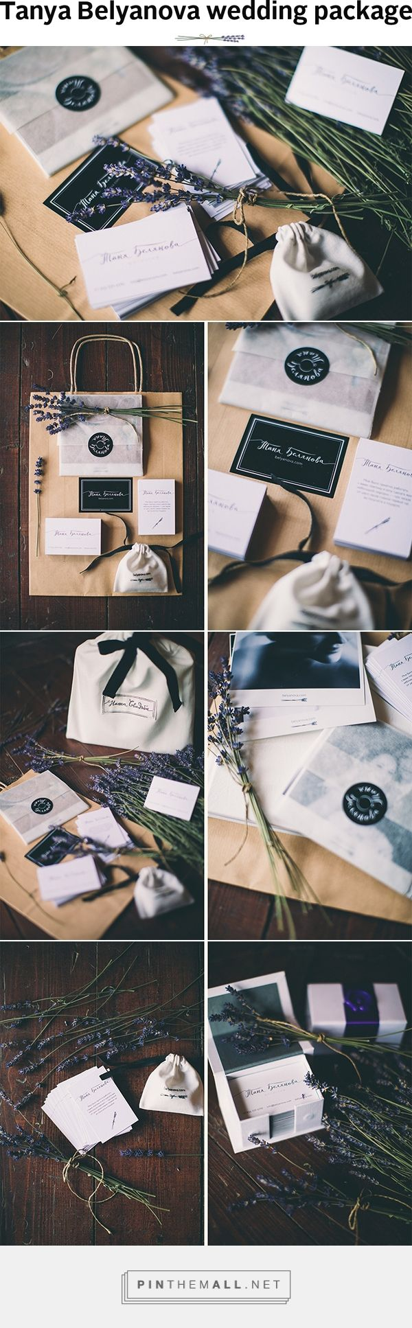 Tanya Belyanova wedding package on Behance by Andrey Gorbunov curated by Packaging Diva PD.  A wedding package for photographer Tanya Belyanova. Set includes a business card, discount card, envelope for photos, photobook pocket, flashcard case and packaging