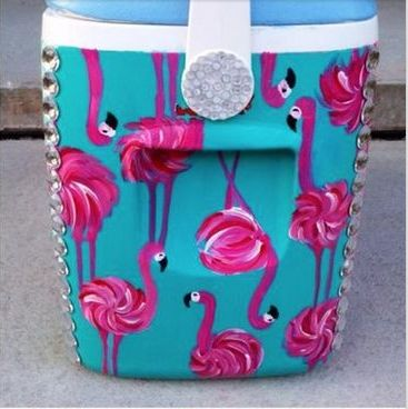 Painted ice chest