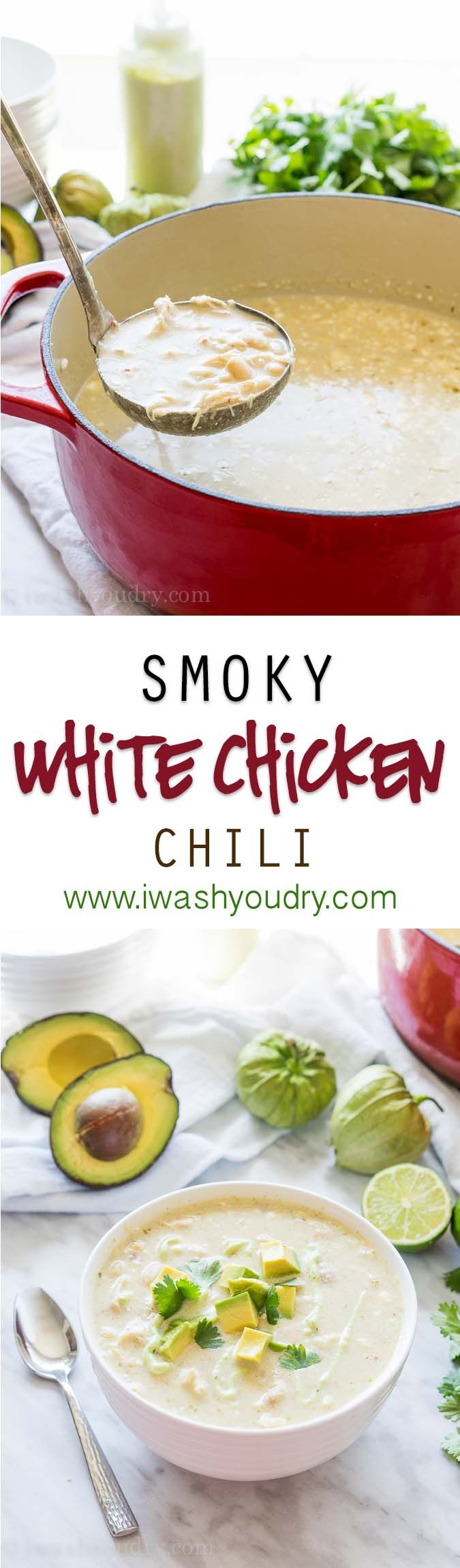 Check out Smoky White Chicken Chili. It's so easy to make ...