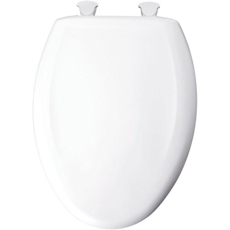 Mayfair Bemis 120SLOWE-000 Slow Close Plastic Toilet Seat with Lift Off Hinges - 1553-4100