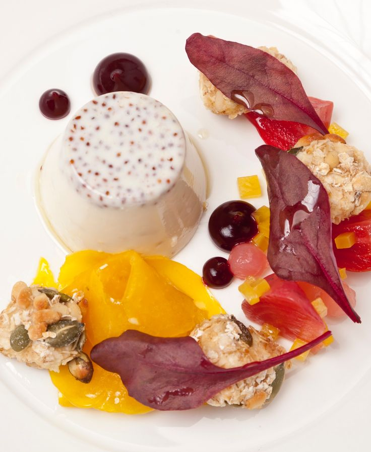Nigel Mendham presents a variant on the classic Italian panna cotta, sharing his mustard panna cotta recipe - which can be served as a starter. Beetroot and goat's cheese are great partners and are well complemented by the acidity of the mustard.