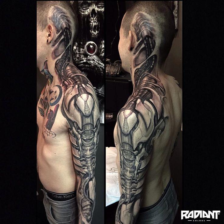 Stunning Cyborg Tattoo http://tattooideas247.com/cyborg/