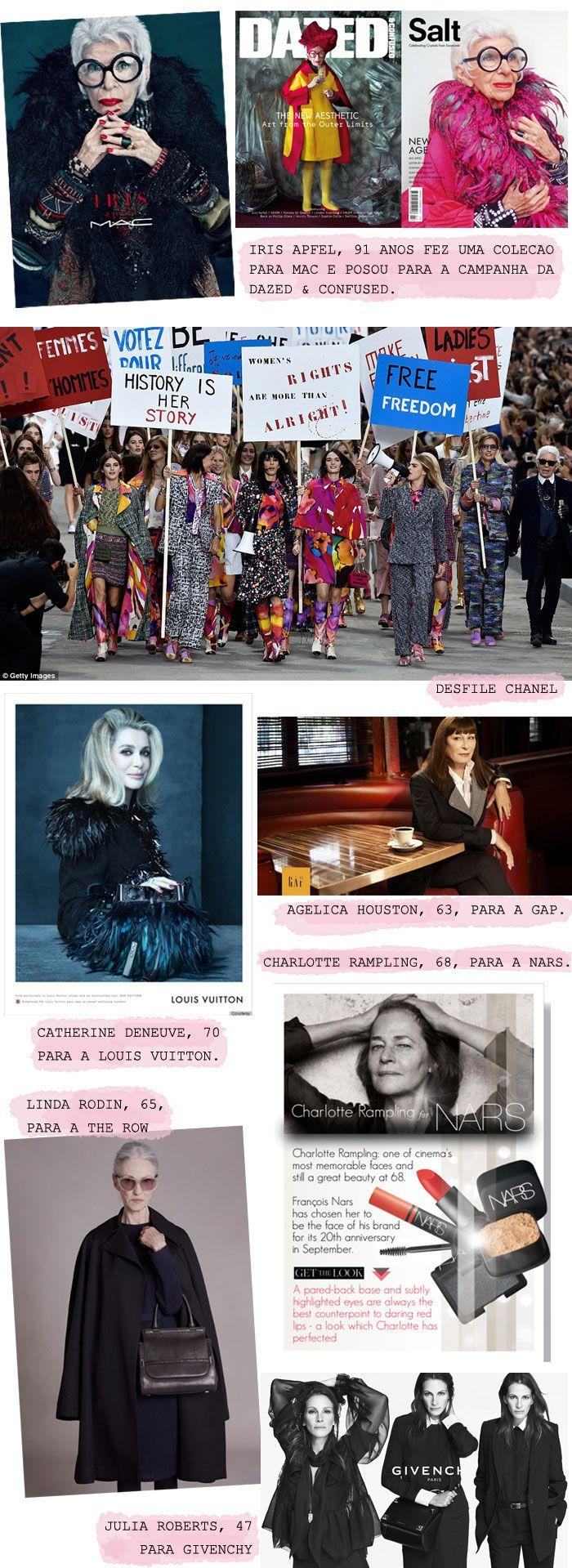 Por que as marcas de luxo têm colocado mulheres reais e mais velhas nas suas campanhas?    por Nuta, Marie | Girls with style       - http://modatrade.com.br/por-que-as-marcas-de-luxo-t-m-colocado-mulheres-reais-e-mais-velhas-nas-suas-campanhas