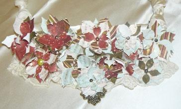 Christmas Bib Necklace - FabScraps