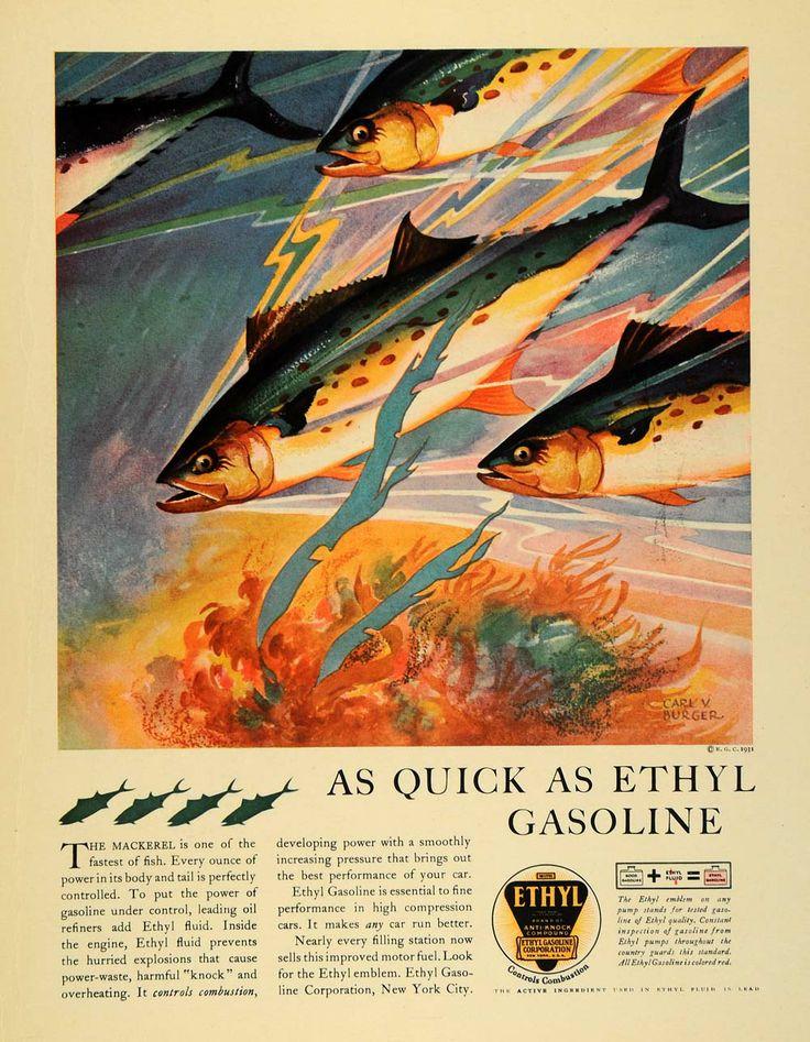1931 Petroleum ad with Burger illustration