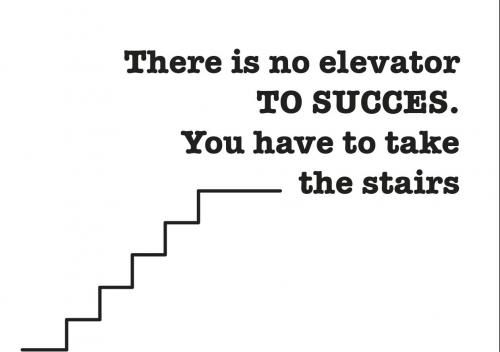 There is no elevator TO SUCCES. You have to take the stairs.  (via http://www.flair.be/nl/body/273904/op-dieet-kijk-niet-naar-slanke-vrouwen)