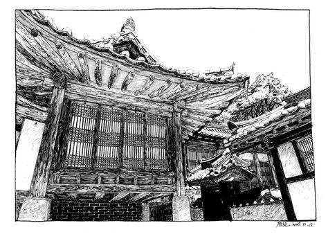 hanok sketch - Google 검색