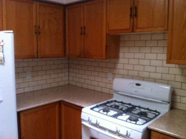 Subway tile kitchen backsplash makeover. Don Of All Trades Professional Home Maintenance Services. Free Estimates. Durham Region. Affordable home improvements and repairs. Visit www.donofalltrade... to find out more.