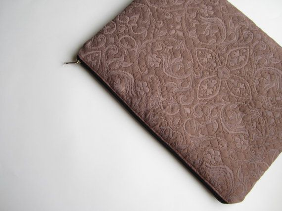 Taupe MacBook 13 sleeve with zipper MacBook Air 13 by CasesLab, $25.00
