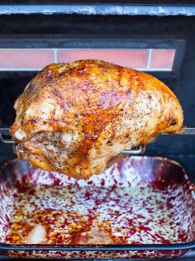 Rotisserie Turkey Breast, Dry Brined with Italian Spices