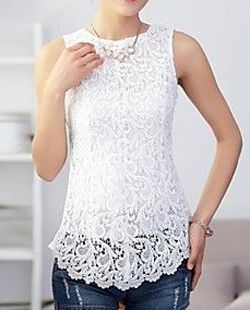 Women's Sleeveless Lace Splicing Tank