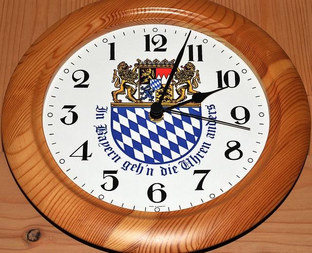 In Bayern geh'n die Uhren anders by Sebastian Bergmann, via Flickr