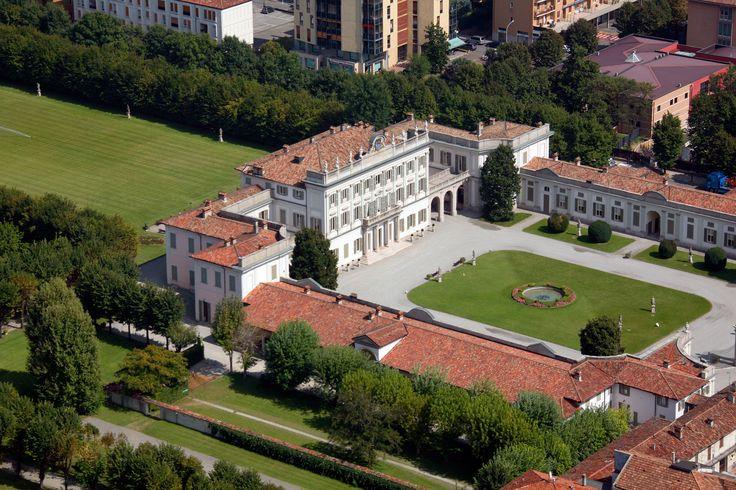 Veduta panoramica di Villa Borromeo a Cassano d'Adda Milano