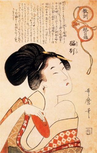The drunken courtesan - Kitagawa Utamaro