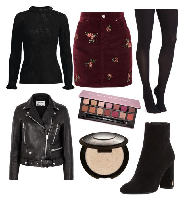 """""""Outfit for NY, Paris"""" by bayaserfati on Polyvore featuring mode, Topshop, Commando, Yves Saint Laurent, Acne Studios, Anastasia Beverly Hills et Becca"""