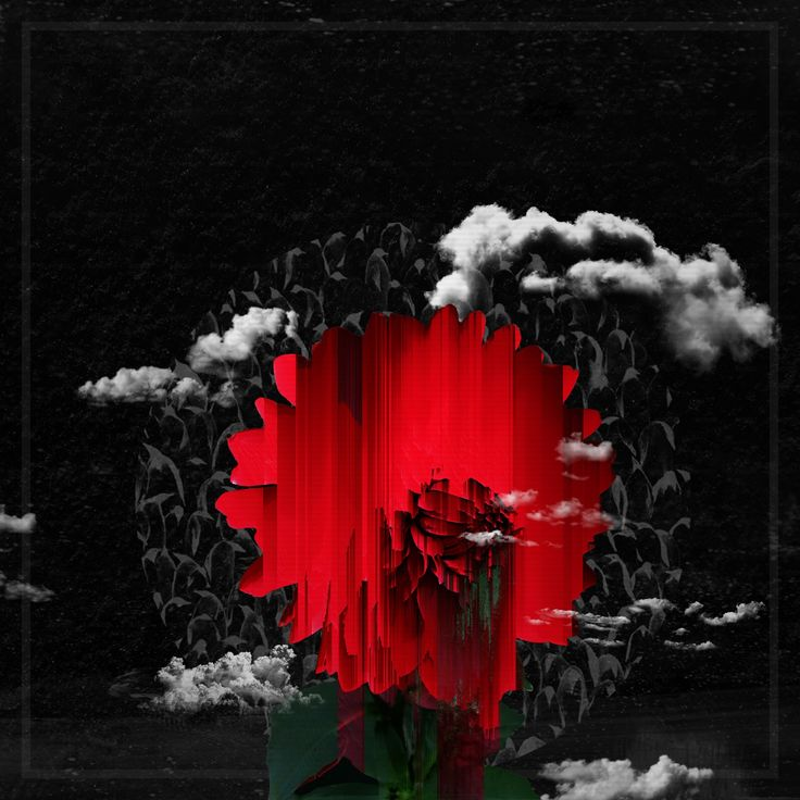 Red Dahlia   #design #digital #edit #photoshop #retrowave #digitalart #sadboys #glitch #ledoriver #vaporwave #pixelsorting
