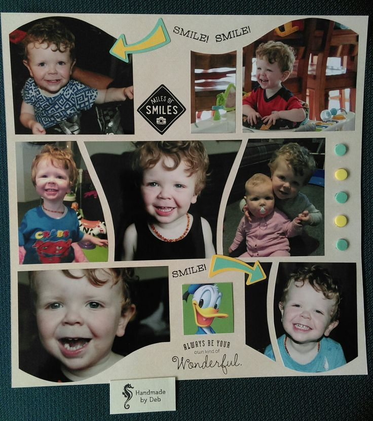 smile. love scrapbooking my grand kids azza inspired.