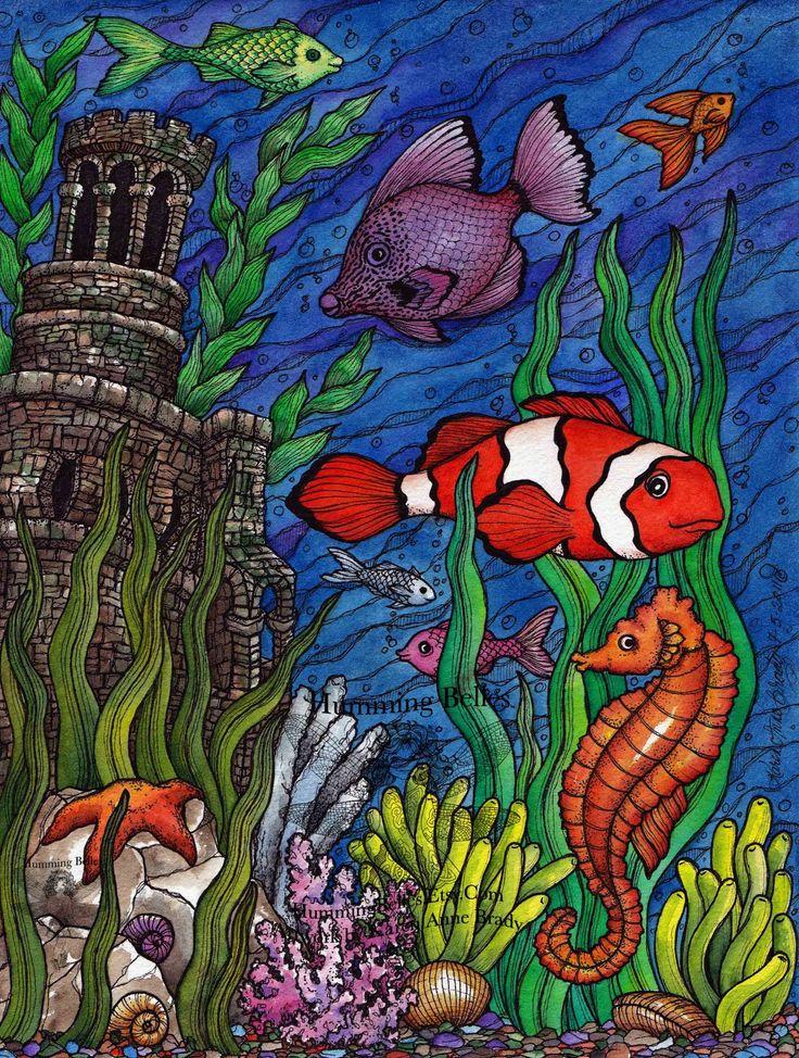 картинки подводный мир рисунки карандашом таким договорам могут