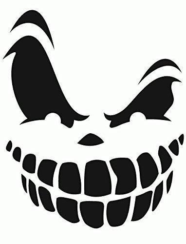 Halloween wall vinyl decal sticker Scary Pumpkin face Yeti Decal Yeti Rambler Decal Yeti Tumbler Decal Ozark Tumbler Decal Wall Vinyl Decal Ozark Trail Decal RTIC