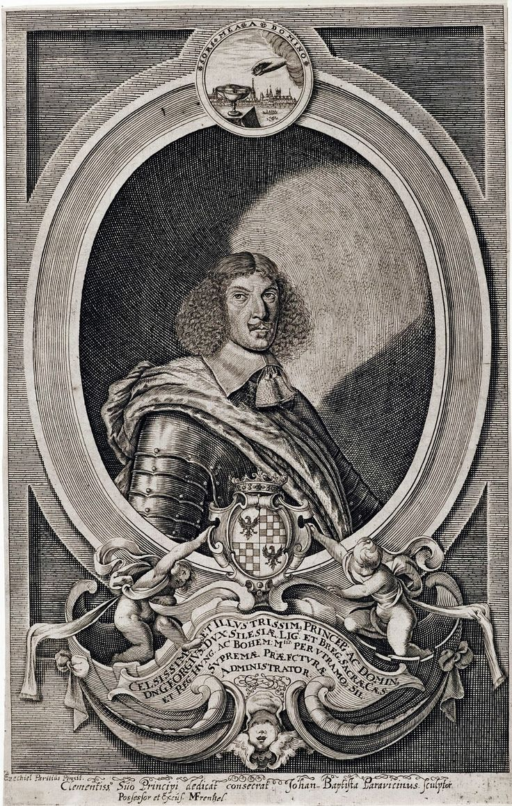 George III of Brieg, Duke of Liegnitz-Brieg (Legnica-Brzeg) by Johann-Baptist Paravicini after Ezechiel Paritius, ca. 1656 (PD-art/old), Herzog Anton Ulrich-Museum