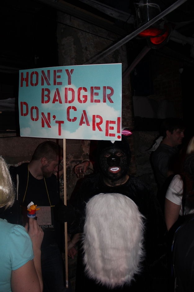 oh lord.: 20 Halloween, Honeybadger Don T, Funny Halloween Costumes, Badger Cracks, Badger Doesn T, Badger Costume, Funnies, Honey Badgers, Awesome Costumes