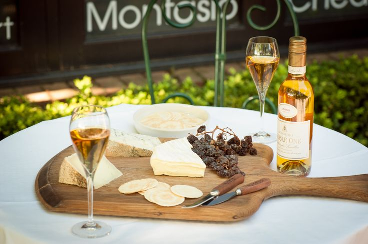 Noble One and Cheese board at De Bortoli Yarra Valley Estate.