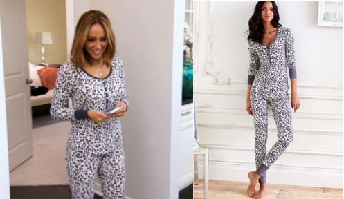 Melissa Gorga's Black and White Snow Leopard Print Pajamas http://www.bigblondehair.com/real-housewives/melissa-gorgas-black-white-leopard-pajamas/