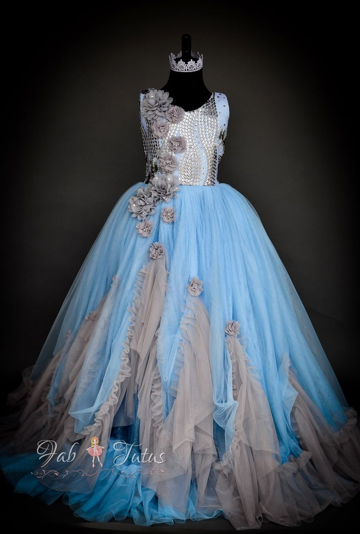 """FabTutus   Products   Flower Girl Dress   """"Andrea"""" Dress - Something Blue Collection"""