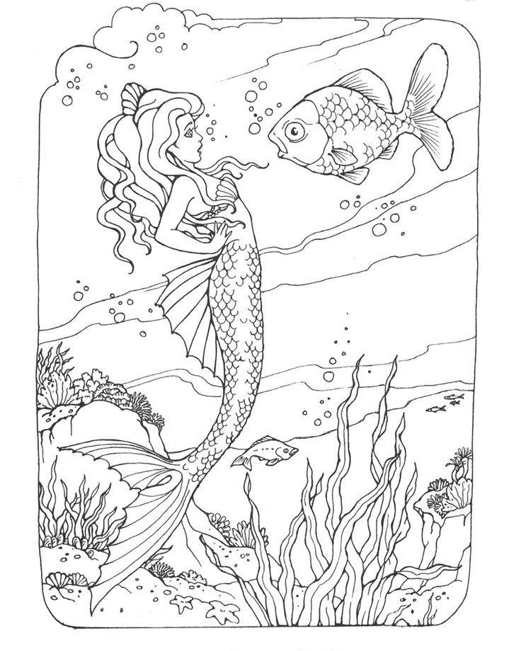 Mermaid Coloring Pages For Adults Best Coloring Pages For Kids Mermaid Coloring Pages Mermaid Coloring Coloring Books