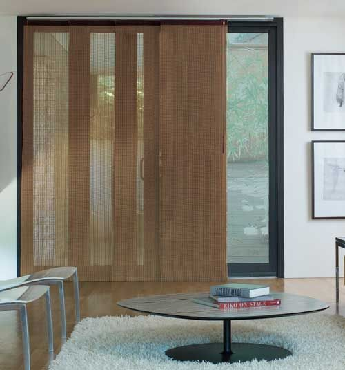 Panel track blinds 2017 grasscloth wallpaper for Panel tracks for patio doors