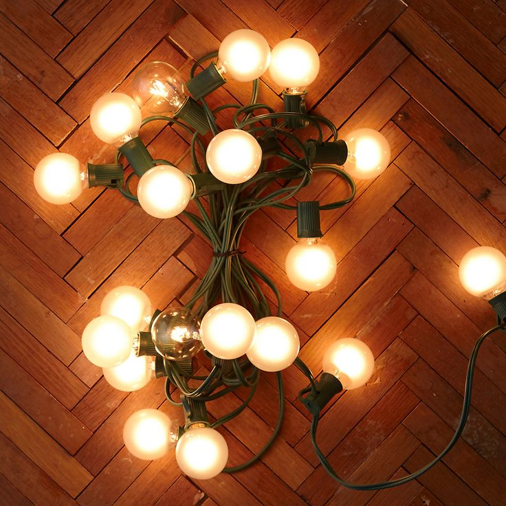 A String Of Classic Globe Lights Made Especially For