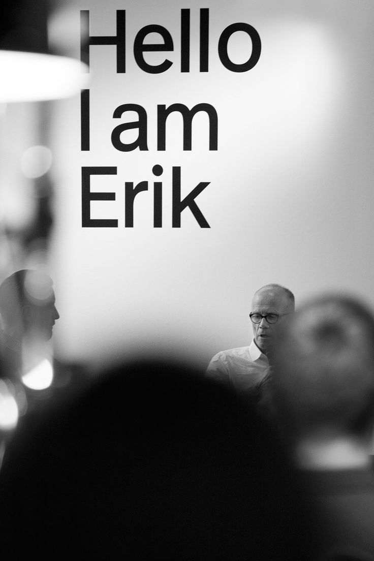 At the launch of Erik Spiekermann's first comprehensive visual biography _Hello I am Erik_ (available in English and German) at the Gestalten Space in Berlin. Photo: © Max Zerrahn