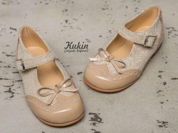 calzado infantil - zapatos ceremonia niña - moda niña - zapateria infantil online - merceditas ceremonia niña - zapatos niña - moda infantil - kukin calzado infantil - dorados - charol - zapatos arras