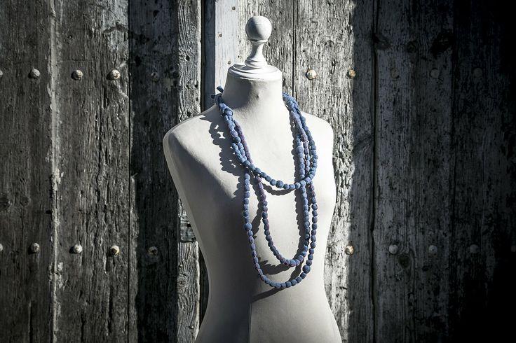 London Collection, Handmade Fabric Necklace www.machapudesign.com