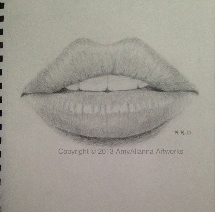 Drawing of lips inspired and guided by Mark Crilley via YouTube