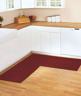 A corner rug-cause we don't just stand in one place when we cook(from LTD catalog)