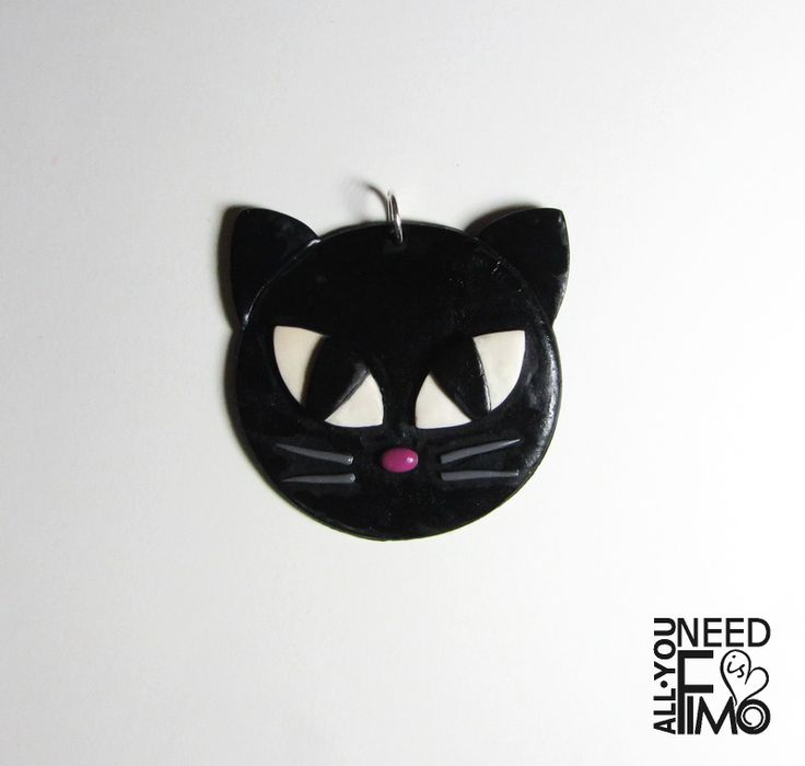 Fimo pendant for necklace with black cat, made on commission! Ask for your personalized pendant ;) INFO: https://www.facebook.com/AllYouNeedIsFimo/photos/a.937250929688782.1073741828.932013750212500/1147134865367053/?type=3&theater \/ #fimo #polymerclay #artigianato #fattoamano #handmade #jewelry  #pendant #ciondolo #charm #necklace #cat #gatto #black #nero #gattonero #blackcat #bigeyes #cateyes #commission #customorders #custom #personalized #occhidigatto #etsy #allyouneedisfimo #etsyfinds