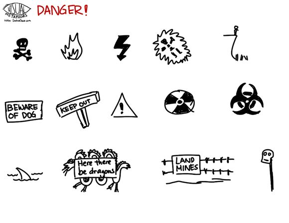 Visual Metaphor -danger #Sketchnotes