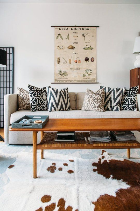 10 Things To Do To Improve Your Home That Only Take An Hour. Art Deco Living  RoomLiving RoomsCow Hide ...