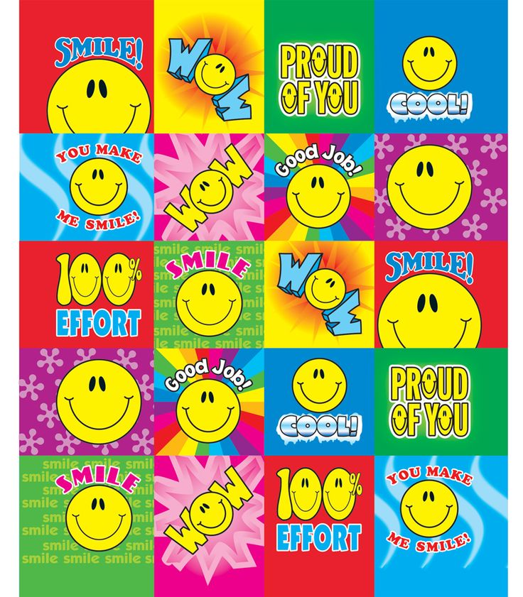 #CDWish13 This sticker set is sure to bring a variety of smiles. It includes 5 sheets each of Smile Fun Motivational Stickers (0632), Multicolored Smiles (2173) and Yellow Smiles (2174) Chart Seals, Multicolored Smiles Shape Stickers (5270), and Smiley Faces Motivational Stickers (0633).