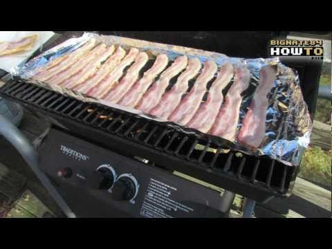 How to cook bacon on the grill- works great and much faster than the oven