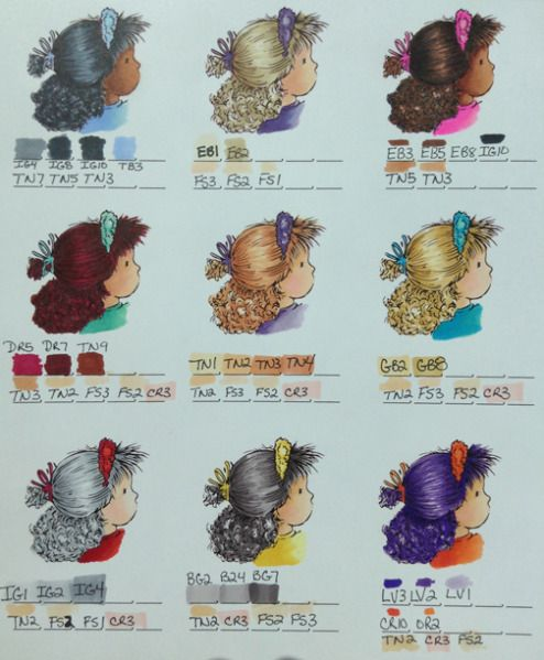 Spectrum Noir hair and skin chart2 by jennie black - Cards and Paper Crafts at Splitcoaststampers