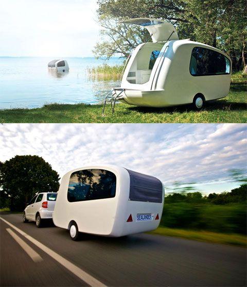 Sealander Amphibious Camping Trailer: Concept Camper...THAT FLOATS!!!
