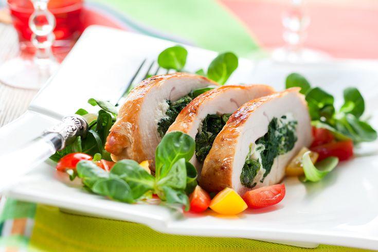 Pierś z kurczaka nadziewana jarmużem - nie tylko pysznie, ale i zdrowo!